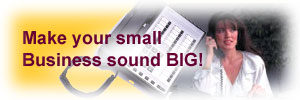 Make your small business  sound BIG.